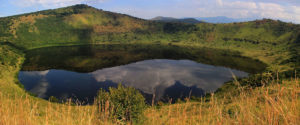 Crater lakes in Queen Elizabeth National Park